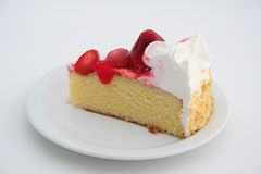 Piece of strawberry cake Stock Photos