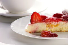 A piece of strawberry cake Royalty Free Stock Image