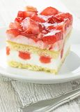 A Piece of Strawberry Cake Royalty Free Stock Images