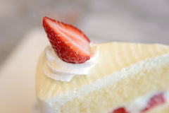 Piece of strawberry cake Royalty Free Stock Images