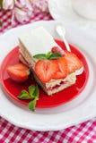 Piece of  strawberry cake Stock Image