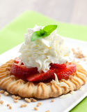Piece of strawberry tart Stock Images