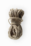 Piece of string. Coiled and bound piece of string, cut out Stock Photos