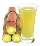 Piece of sugarcane juice. Over white background Stock Photo