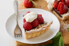 Piece of summer tart Royalty Free Stock Photography
