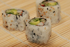 Piece of sushi - close-up Stock Image