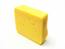 A piece of Swiss cheese Stock Image