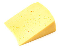 A piece of Swiss cheese Stock Photo