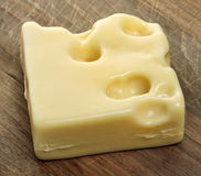Piece Of Swiss Cheese Royalty Free Stock Image