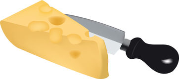 Piece of Swiss cheese Stock Photography