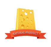Piece of Swiss Cheese Stock Images
