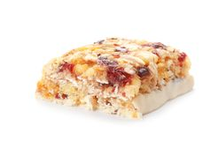 Piece of tasty protein bar royalty free stock photography