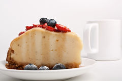 Piece of tasty vanilla cheesecake Royalty Free Stock Photo
