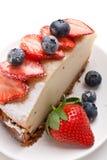 Piece of tasty vanilla cheesecake Stock Image