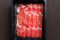 Piece Tenderloin with tray Stock Photo