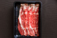Piece Tenderloin with tray Royalty Free Stock Image