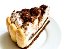 Piece of tiramisu cake Royalty Free Stock Photo