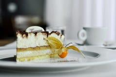 Piece of Tiramisu dessert with coffee Stock Photography