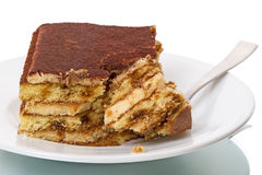 Piece tiramisu dessert Royalty Free Stock Images