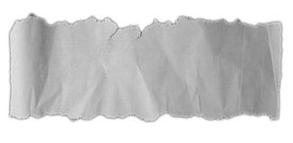 Torn ripped paper. Piece of torn paper on plain background Stock Image