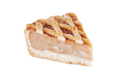 Piece of traditional apple pie Stock Images