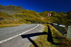 A piece of the Transfagarasan road from Romania. Stock Image