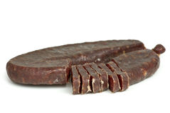 Piece of turkic summer sausage Royalty Free Stock Photos