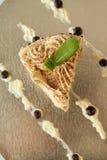 Piece of vanilla cake Stock Image