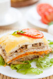 Piece of vegetable lasagna with cheese Royalty Free Stock Image