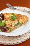 A piece of vegetable quiche Royalty Free Stock Photos