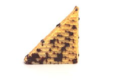 Piece wafer cakes Royalty Free Stock Images