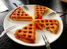 piece of waffle Royalty Free Stock Photo