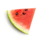 Piece of watermelon. Isolated on white background, top view Royalty Free Stock Photos