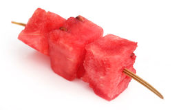 Piece of watermelon in a thorn Royalty Free Stock Image