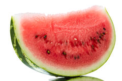 Piece of watermelon on white Royalty Free Stock Photography