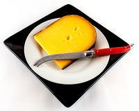 Piece of waxed  cheese Stock Photography