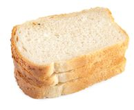 Piece of white bread isolated Royalty Free Stock Image