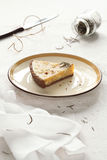 Piece of White Chocolate Rosemary Tart Stock Photo