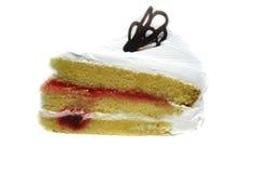 A piece white cream cake Royalty Free Stock Photo