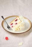 Piece of White Forest Cake Stock Images