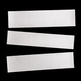 Piece of white paper isolated on black Stock Photography