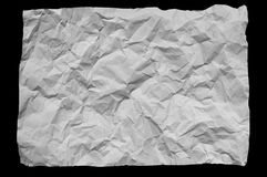 A piece of white wrinkled paper Royalty Free Stock Photo