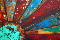 Painted Wood in Multiple Colors Royalty Free Stock Image
