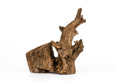 Piece of wood on white background, Old wood, Wood for home. Royalty Free Stock Photography