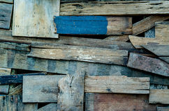 piece wooden wall background Stock Photo