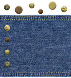 Piece of worn blue denim Royalty Free Stock Image