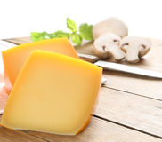 Piece of yellow cheese Royalty Free Stock Image