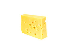 Piece of yellow cheese Stock Photography