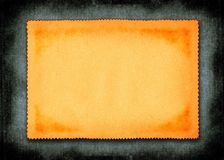 Piece of yellowed paper. Against material background royalty free illustration