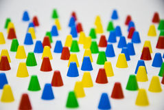 Pieces. Of various colors on white background Royalty Free Stock Photos
